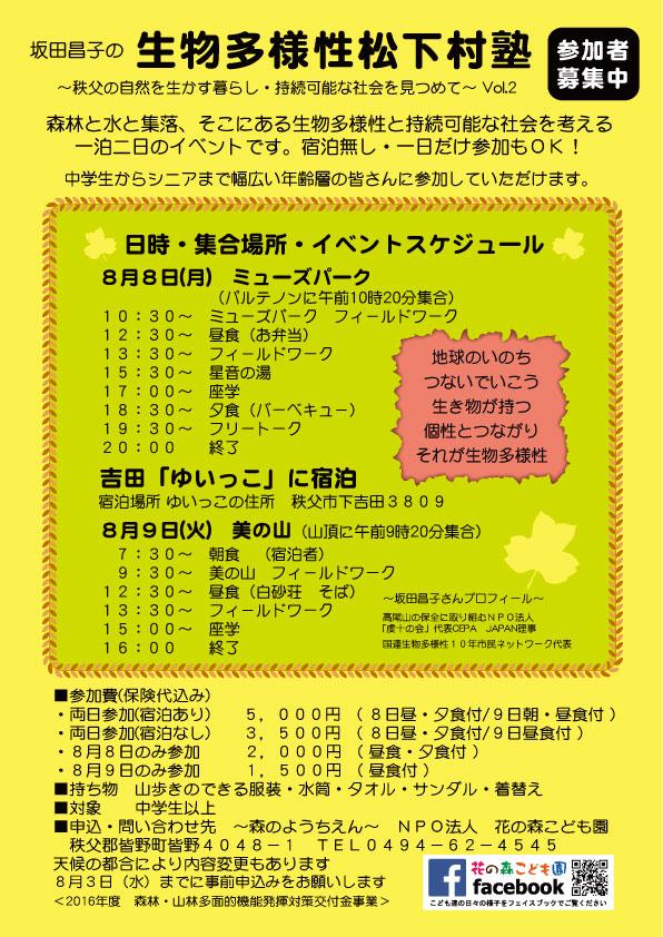 生物多様性松下村塾vol.2