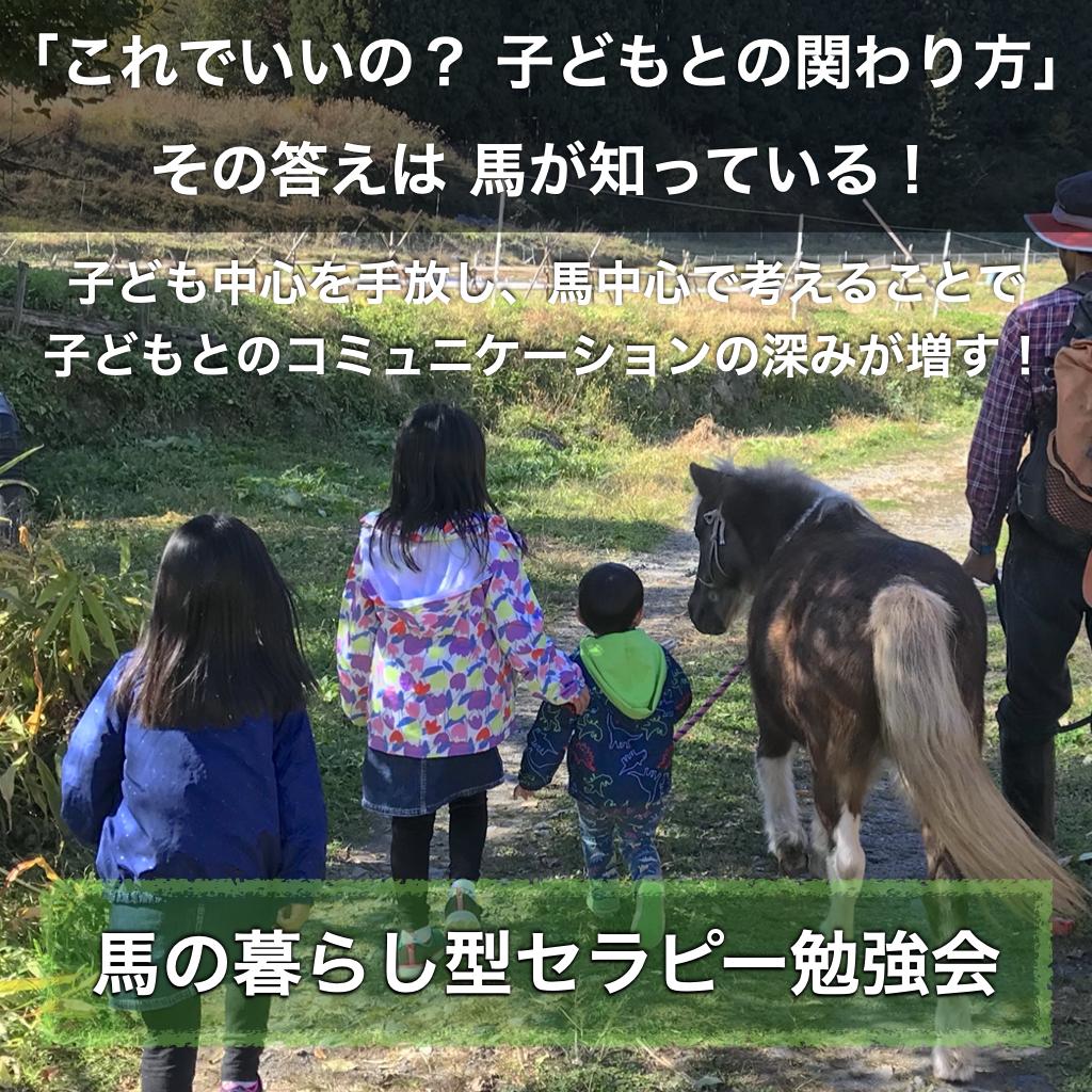 「これでいいの? 子どもとの関わり方」その答えは 馬が知っている!〜ホースセラピー講座〜2020年12月