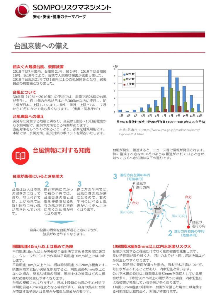 アンケート調査のお願い&情報提供(台風来襲への備え)